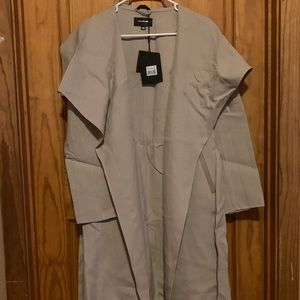 NWT Mackage light trench coat/duster. Wool/spandex